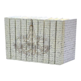 Image Collection Chandelier Gold Books - Set of 10 For Sale
