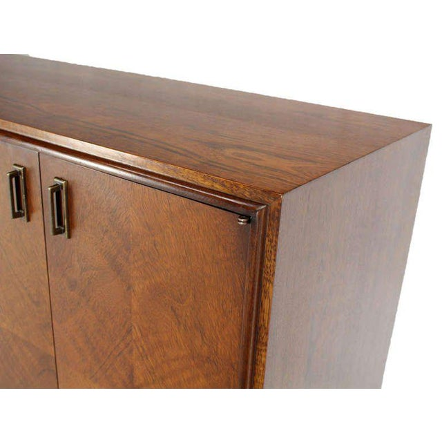 Mid-Century Modern Walnut Dresser Credenza w/ Multiple Compartments and Drawers For Sale - Image 9 of 9