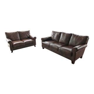 Beacon Hill Leather Sofa & Loveseat