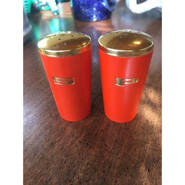 Vintage Orange Salt & Pepper Shakers - Image 2 of 5
