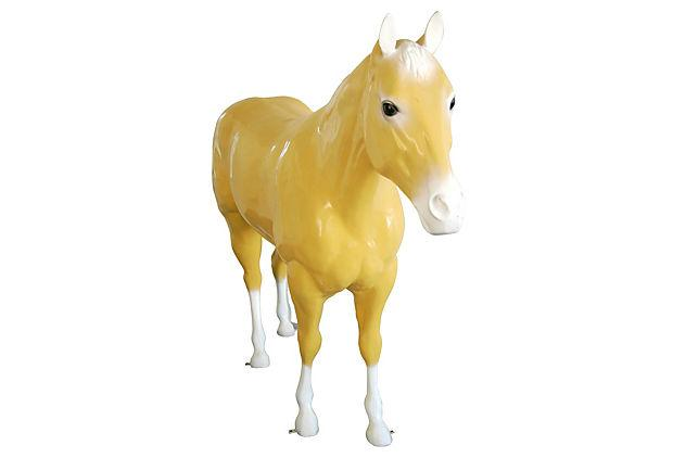 1960s Life Size Fiberglass Thoroughbred Race Horse Statue Chairish