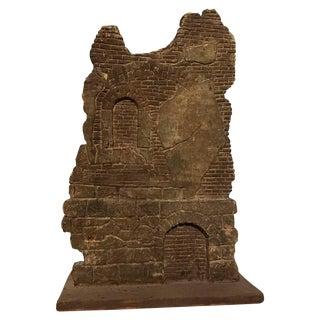 Georgian Style Miniature Wood Model of Ruins 1870 For Sale