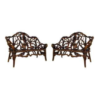 Rustic Adirondack Root Loveseat - a Pair For Sale