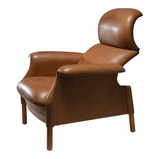 """Sanluca"" Leather Lounge Chairs by Castiglioni for Gavina"
