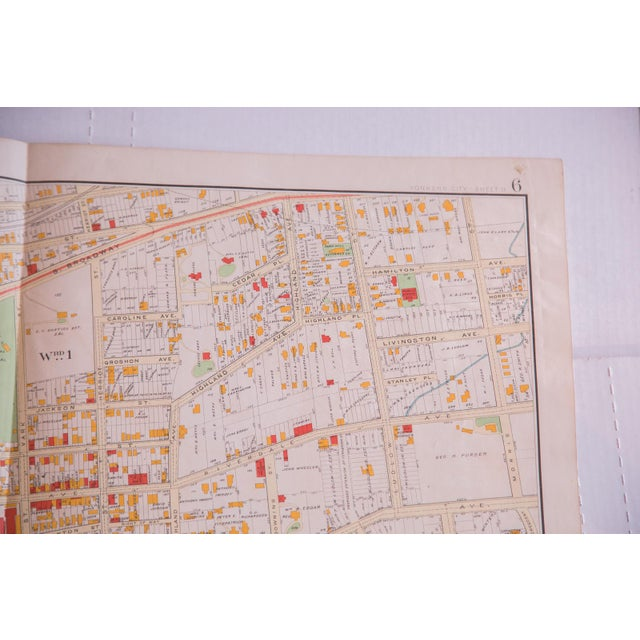 :: Antique map of the city of Yonkers of Westchester County New York. Features an up-close view of the city, featuring...