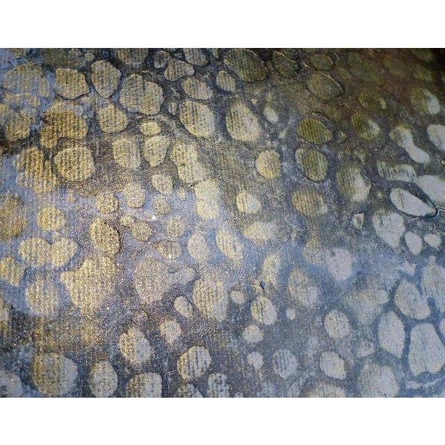 """Canvas Contemporary Abstract Titled """"Asteroid"""" by Brazilian Artist Andre Brandao For Sale - Image 7 of 10"""