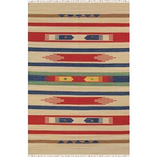 Pasargad Anatolian Hand-Woven Cotton Rug- 4' X 6'