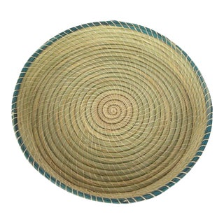 Hand-Woven Natural Vegetable Fiber Basket Bread Basket For Sale