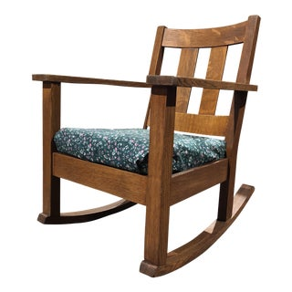 1940s Arts and Crafts Limberts Rocking Chair For Sale