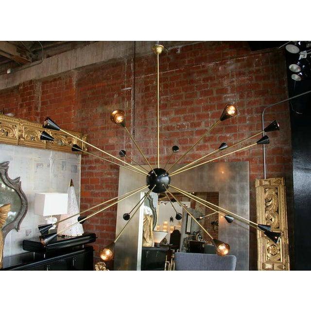Italian Oversized Italian Sputnik Light For Sale - Image 3 of 9