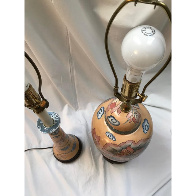 1980s 1980s Asian Ginger Jar and Desk Lamps - 2 Pieces For Sale - Image 5 of 6