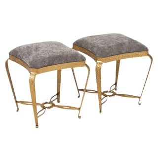 Forged Iron Stools by Pier Luigi Colli For Sale