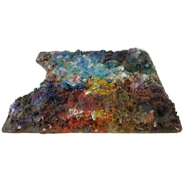 Abstract Vintage Artist's Paint Palette For Sale - Image 3 of 8