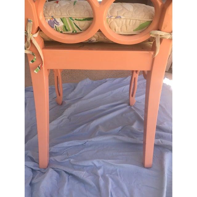 Salmon Frances Elkins Loop Chair- Set of 4 For Sale - Image 8 of 13