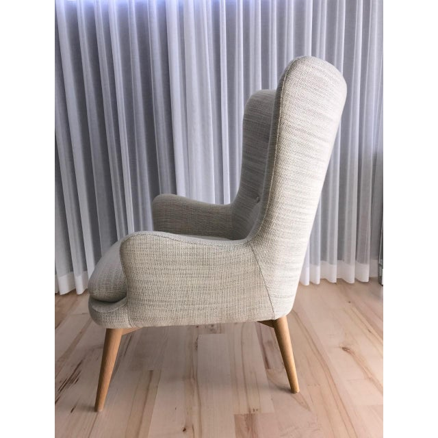 West Elm Wingback Chair - Image 5 of 6