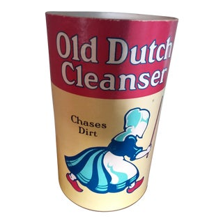 "Oversized Vintage Advertising Store Display Can ""Old Dutch Cleanser"" For Sale"