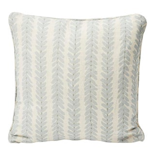Schumacher Double-Sided Pillow in Woodperry Linen Print For Sale