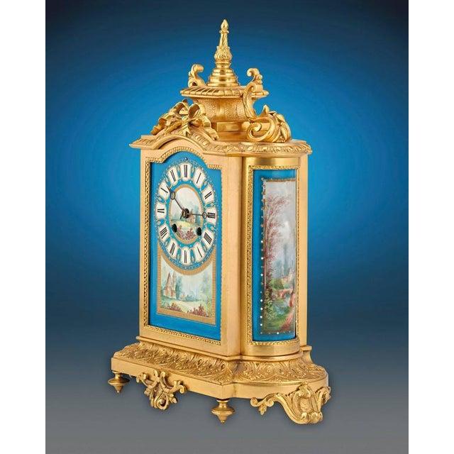 French Sèvres Clock Garniture - Set of 3 For Sale - Image 3 of 6