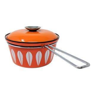 1960s Scandinavian Modern Catherineholm Enamel Lotus Sauce Pan