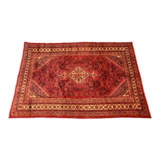 """Vintage Hand-Knotted Persian Wool Rug - 6'9"""" X 9'11"""" For Sale"""