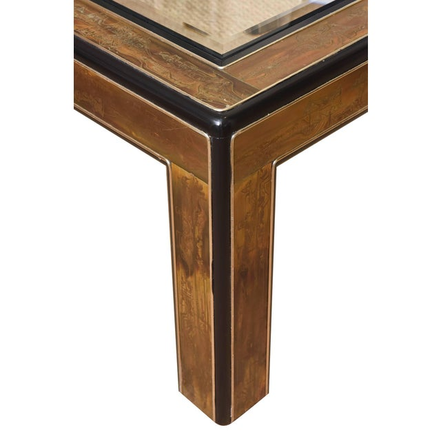 1970s 1970s Mid-Century Modern Bernhard Rohne for Mastercraft Ebonized Wood Cocktail Table For Sale - Image 5 of 10