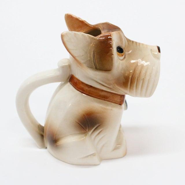 Mid-Century Modern Occupied Japan Ceramic Terrier Creamer For Sale - Image 3 of 5