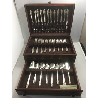 Oneida Mid-Century Evening Star Pattern Silver Plate Flatware - Service for 12 Preview