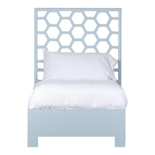 Honeycomb Bed Twin - Blue For Sale