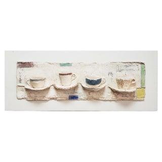 Vintage Myron Melnick Dimensional Paper Mache Wall Sculpture For Sale