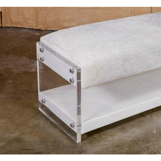 1920s Modern Yves Lucite Benches For Sale - Image 5 of 10