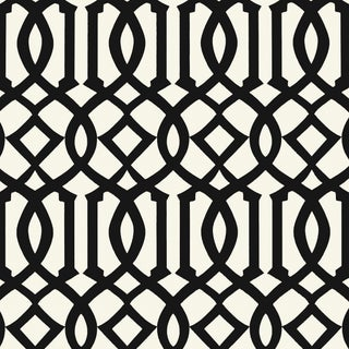 Schumacher Imperial Trellis II Wallpaper in Jet For Sale