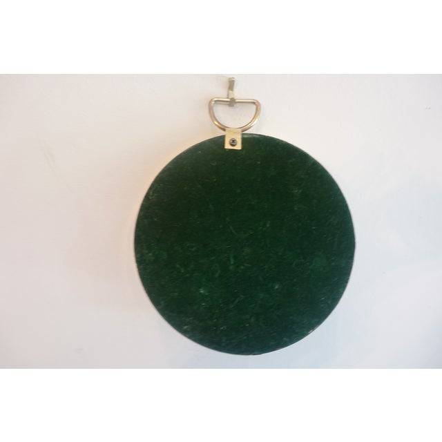 Small Brass Framed Round Mirror For Sale - Image 4 of 6