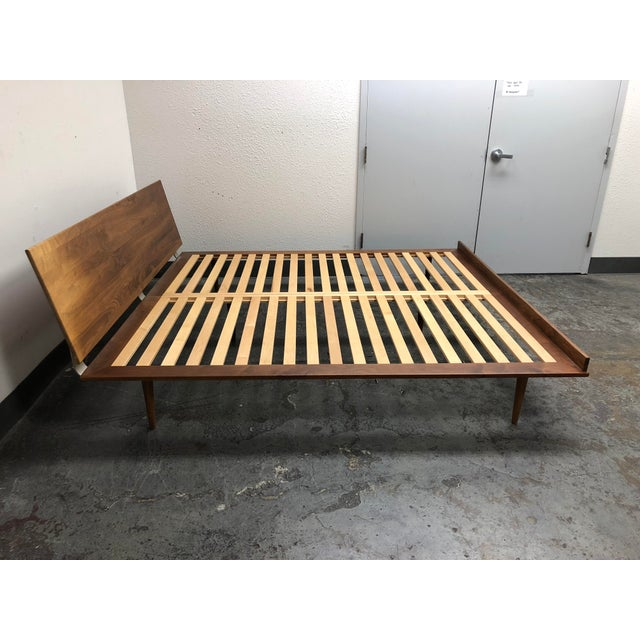 2010s Herman Miller Nelson Walnut Thin Edge King Bed For Sale - Image 5 of 11