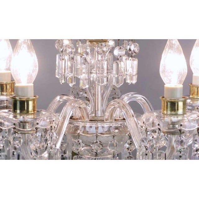 Lightolier Circa 1940s Lightolier Cut-Crystal Five Arm Chandelier For Sale - Image 4 of 9