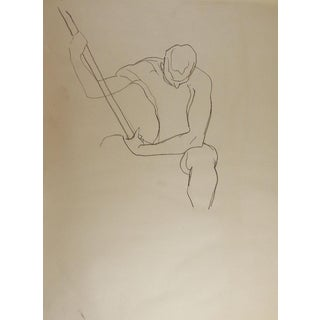 Line Drawing Male 1950's Figure Study For Sale
