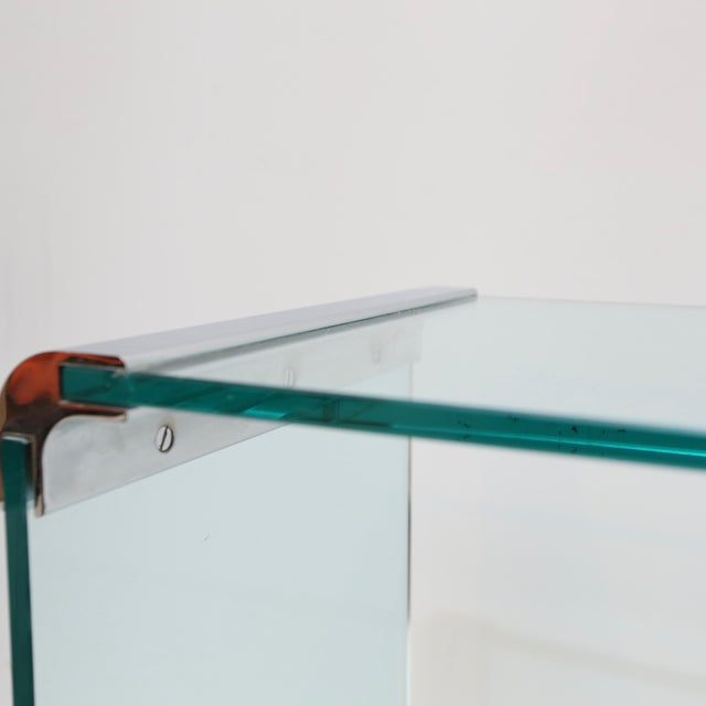 1970s Pace Collection Waterfall Console Table For Sale - Image 5 of 8