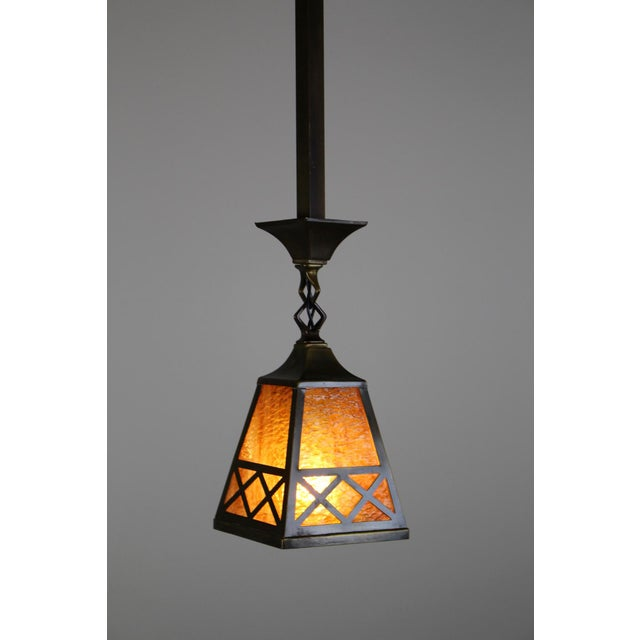 Arts & Crafts Style Pendant Fixture. For Sale - Image 4 of 7