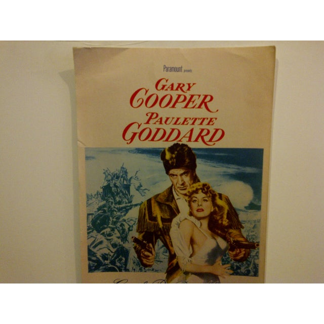 """Contemporary Vintage Movie Poster """"Unconquered"""" Gary Cooper & Paulette Goddard - 1955 For Sale - Image 3 of 5"""