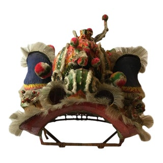 1940s Paper Mache Chinese Dragon Head from a Costume For Sale