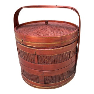 Antique Chinese Wedding Basket For Sale