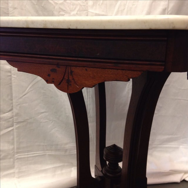 Antique Art Deco Table With Marble Top - Image 4 of 6