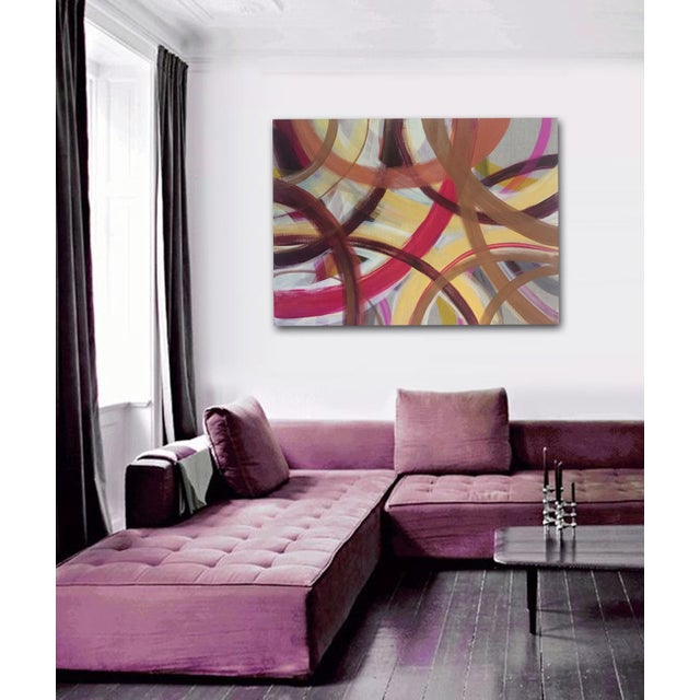 'AUTUMN' original abstract painting by Linnea Heide - Image 7 of 7