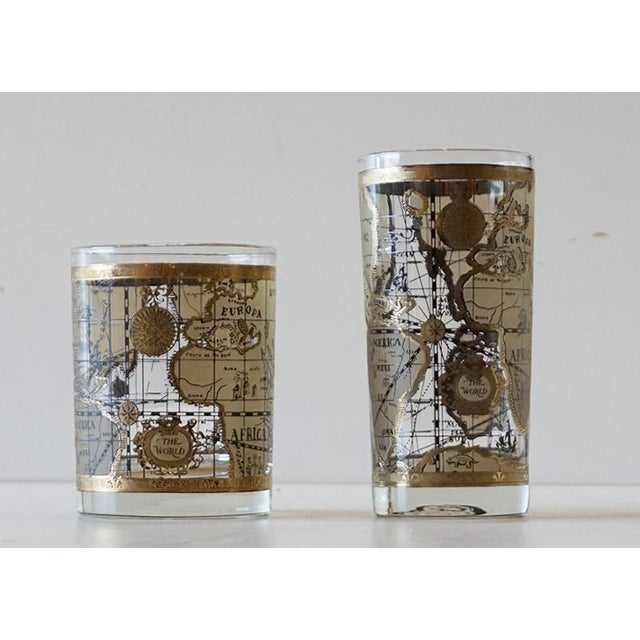 Cera old world map glasses set of 16 chairish cera old world map glasses set of 16 image 5 of 7 gumiabroncs Image collections