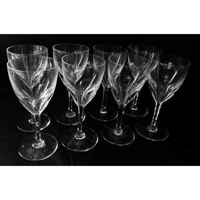 Baccarat 1980s Baccarat Genova Cut Tall Water Glasses, France - Set of 8 For Sale - Image 4 of 10