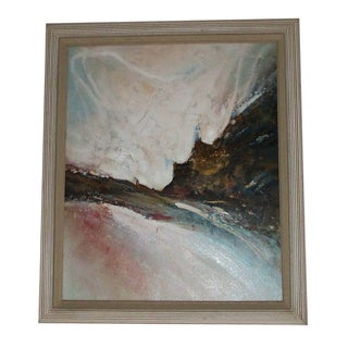 1980s Abstract Oceanscape Painting