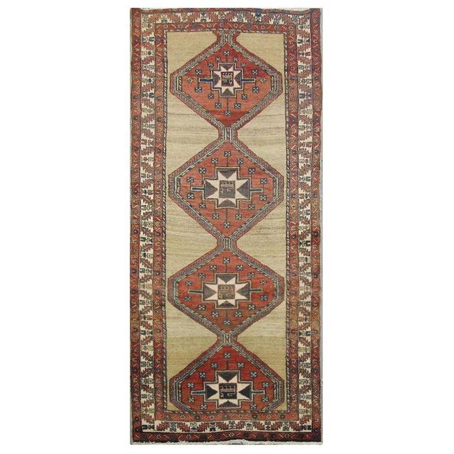 Vintage Persian Sarab Rug - 3′10″ × 10′8″ For Sale