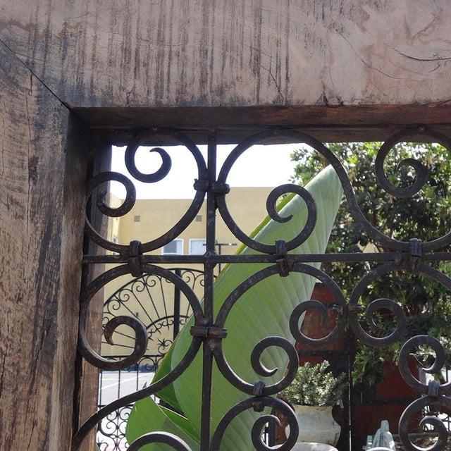 Mediterranean Teak & Iron Room Divider For Sale - Image 3 of 3