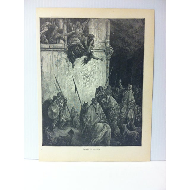 """This is Real Nice Antique Print on Paper Illustrated by Gustave Dore' that is titled """"Death of Jezebel"""". The Print was..."""