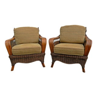 Vintage Wicker Chairs - A Pair
