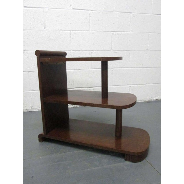 Art Deco Pair of Art Deco Streamline Three Tier End Tables For Sale - Image 3 of 9